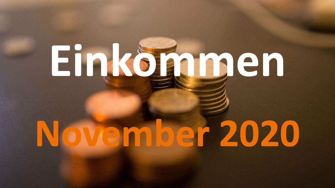Einkommen November 2020