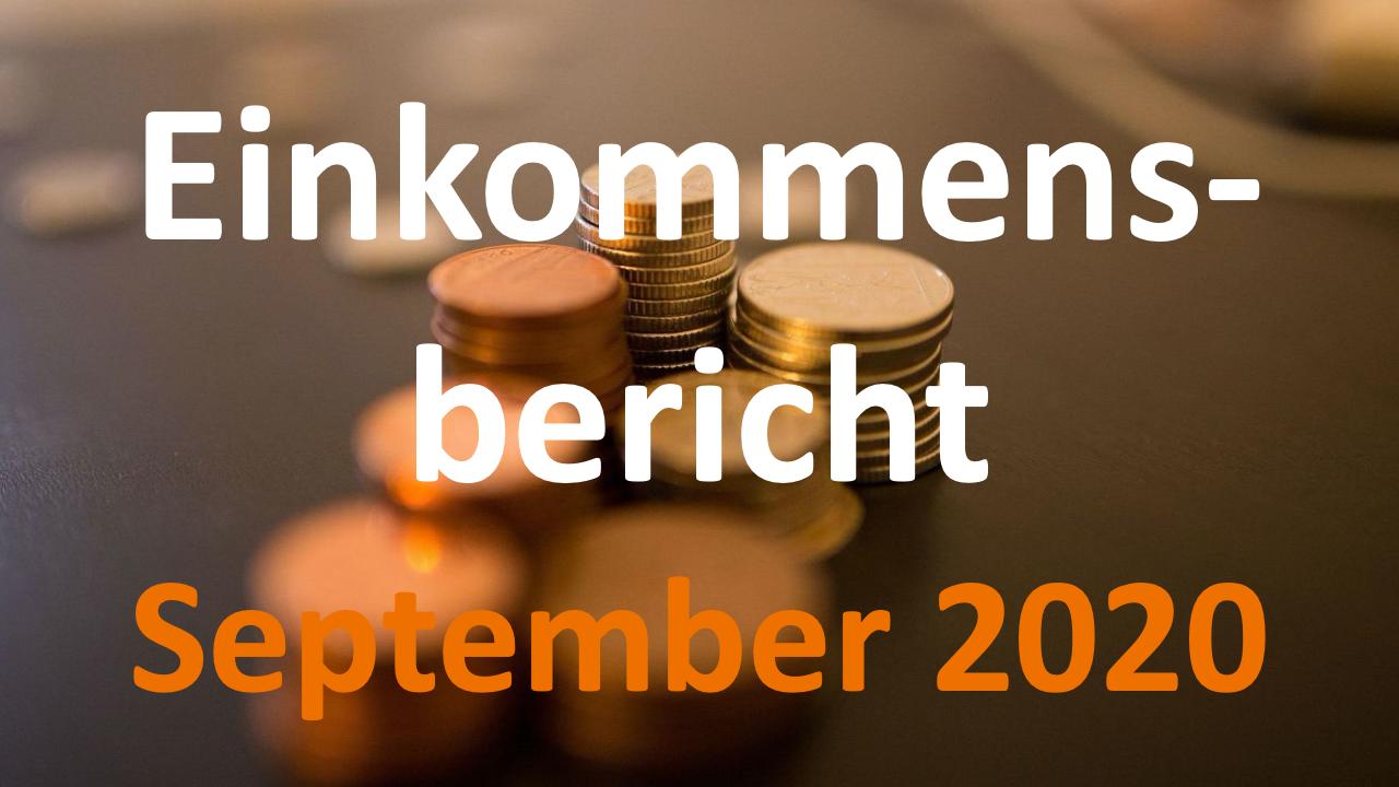 Einkommensbericht September 2020