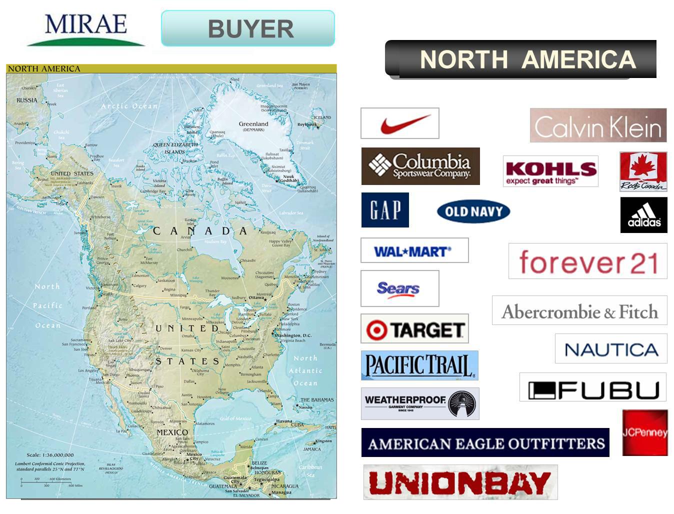 Mirae Abnehmer Nordamerika