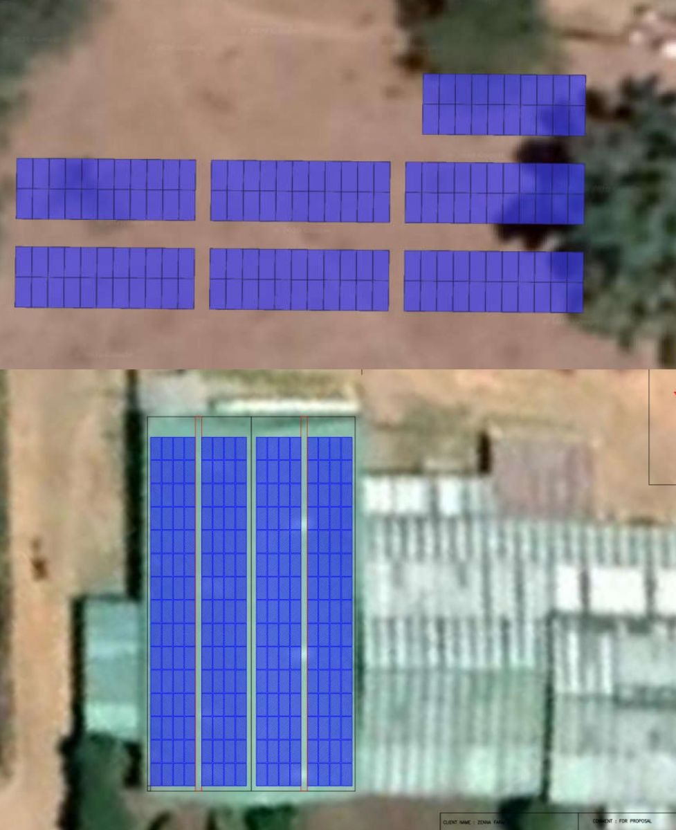 PV system layout Zena Sosiani both