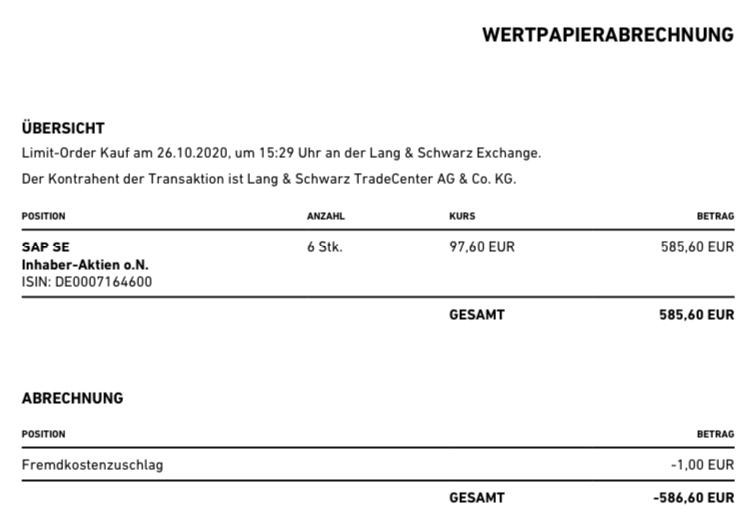 SAP Nachkauf