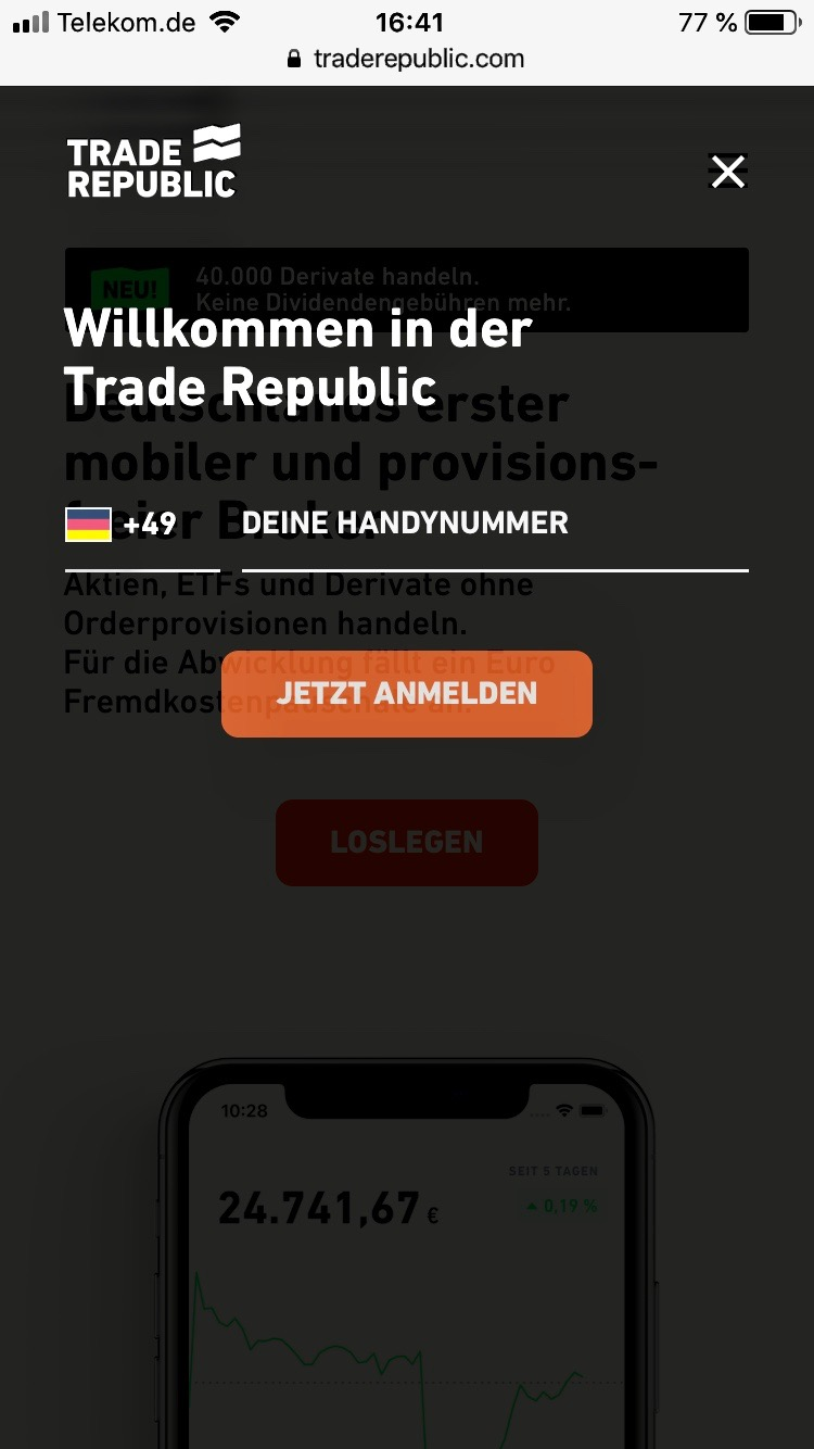 Trade Republic Anmeldung 2.1